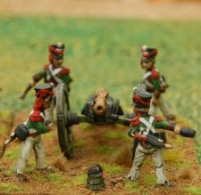 Polish artillery loading